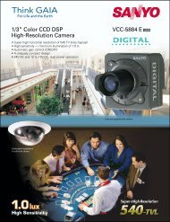 "VCC-5884 E 1/3"" Color CCD DSP High-Resolution Camera"