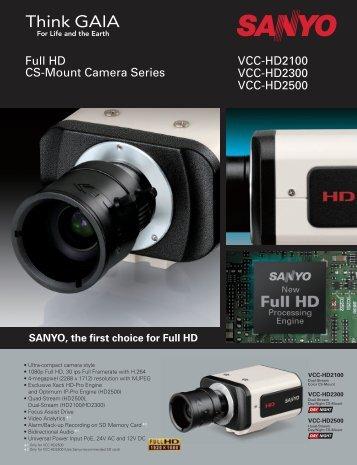VCC-HD2100 VCC-HD2300 VCC-HD2500 Full HD CS-Mount ...