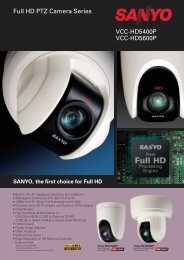 VCC-HD5400P VCC-HD5600P Full HD PTZ Camera Series