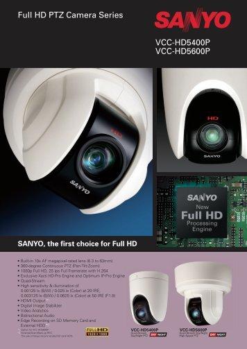 VCC-HD5400P VCC-HD5600P Full HD PTZ Camera Series