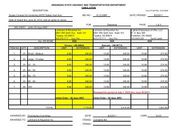 bid quote tabulation form item solid waste collection