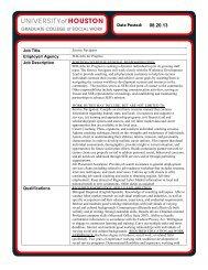 Job Title Employer/ Agency Job Description Qualifications