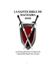 La Sainte Bible de Machaira 2016
