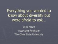 Everything you wanted to know about diversity but were ... - AACRAO