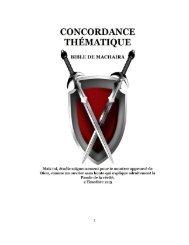 Concordance Thématique pour Machaira 2016