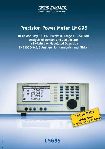 LMG95 Precision Power Meter LMG95