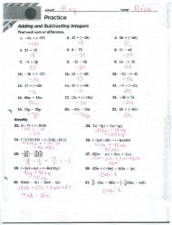 Combining Like Terms Worksheet - Ms. Manning's Class