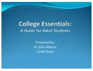 Attracting Adult Learners - aacrao