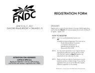RegiStRAtiON fORm - Florida National Dental Convention
