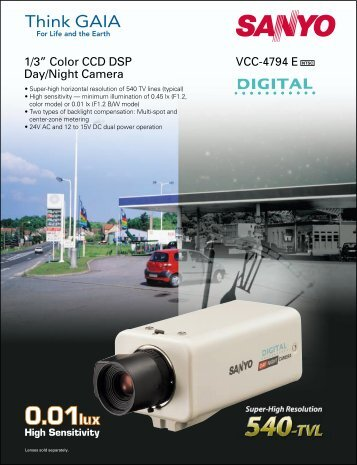 "VCC-4794 E 1/3"" Color CCD DSP Day/Night Camera - psn-web.net ..."