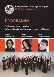 PROGRAMM - Armenische Kulturtage Stuttgart