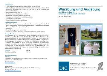 Würzburg und Augsburg - Deutsch-Israelische Gesellschaft