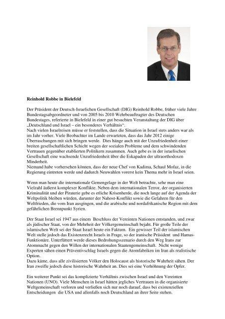 18. Mai 2012 - Deutsch-Israelische Gesellschaft