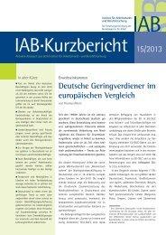 Deutsche Geringverdiener im europäischen Vergleich - IAB