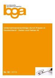 Unternehmensnachfolge durch Frauen in Deutschland – Daten und ...