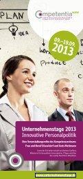 Unternehmenstage 2013 - Competentia NRW