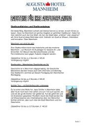 Vorschläge für Ihre Ausflugsplanung - Hotel Augusta