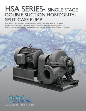HSA SERIES- SINGLE STAGE - Hydroflo Pumps