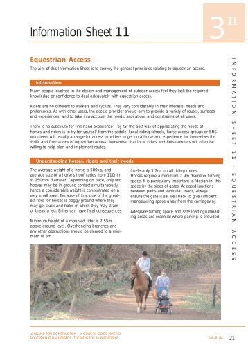Equestrian access fact sheets - British Horse Society Scotland