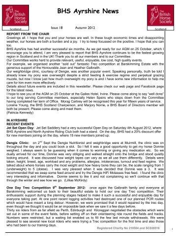 October 2012 Newsletter - British Horse Society Scotland