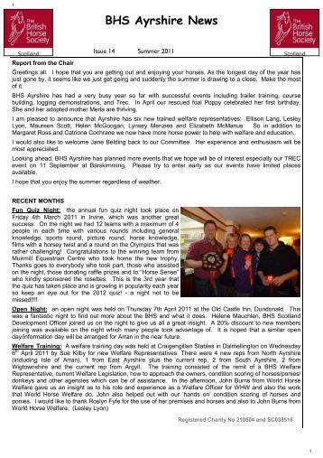 BHS Ayrshire News - British Horse Society Scotland