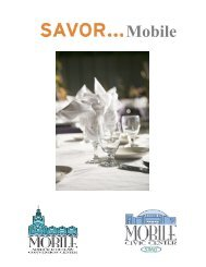 2013-14 Full Catering Menu - Mobile Convention Center