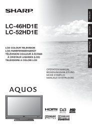 LC-46/52HD1E Operation-Manual IT - Sharp