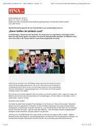 Hilfsbereitschaft statt Gewaltanwendung - Hermann-Gmeiner-Schule