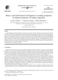Mono- and multi-fractal investigation of scaling properties in ...