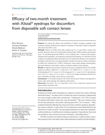 Efficacy of two-month treatment with Xiloial® eyedrops ... - Farmigea