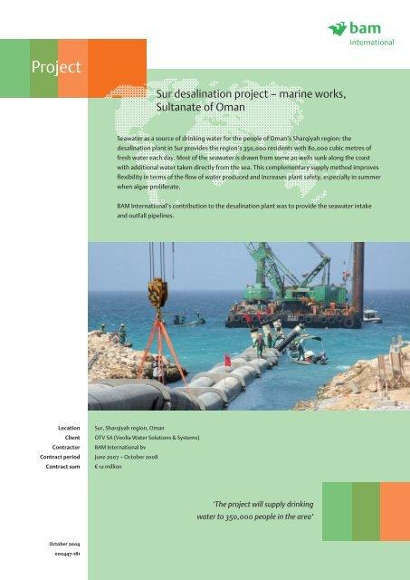 Sur desalination project – marine works     - BAM