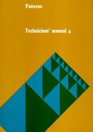 Patterns: technicians' manual 4 - National STEM Centre