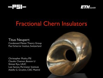 Fractional Chern Insulators - Institute of Condensed Matter Theory at ...