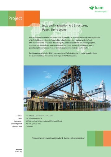 Jetty and Navigation Aid Structures, Pepel ... - BAM International
