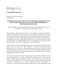 Greysteel Multifamily Team Led by Ari Firoozabadi Named Advisor ...