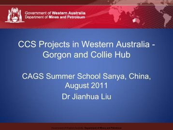 CCS - Gorgon and South West Collie Hub CCS Projects ... - CAGS