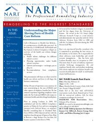 NARI NEWS - National Association of the Remodeling Industry