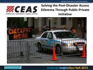 Solving the Post-Disaster Access Dilemma Through Public-Private ...
