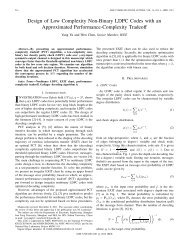 Design of Low Complexity Non-Binary LDPC Codes ... - IEEE Xplore