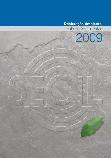 Declaração Ambiental 2009 - Secil