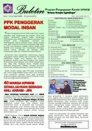 Buletin PPK Edisi 1 : 15 Oktober 2009 - Kementerian Pembangunan ...