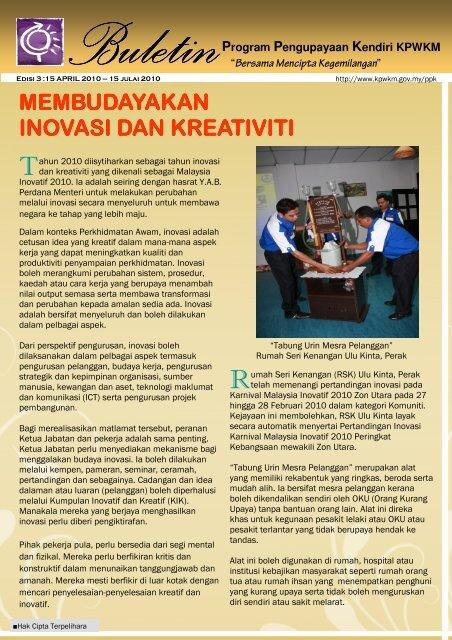 buletin ppk edisi 3- 2010 - kpwkm