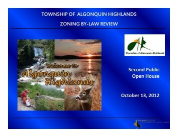 Zoning By-law Update Open House October 13, 2012 - Township of ...