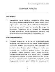 GENDER FOCAL POINT (GFP) - Kementerian Pembangunan ...