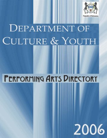 Performing Arts Groups - Ministry of Youth, Sport and Culture