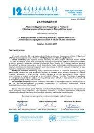 XII Międzynarodowa Konferencja Naukowa