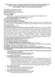 Dostawa aparatu do oceny i treningu dynamicznego ... - Instytut Sportu