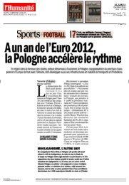 A un an de l'Euro 2012, la Pologne accélère le rythme - Promujmy ...