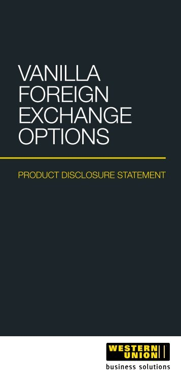 VANILLA FOREIGN EXCHANGE OPTIONS - Travelex