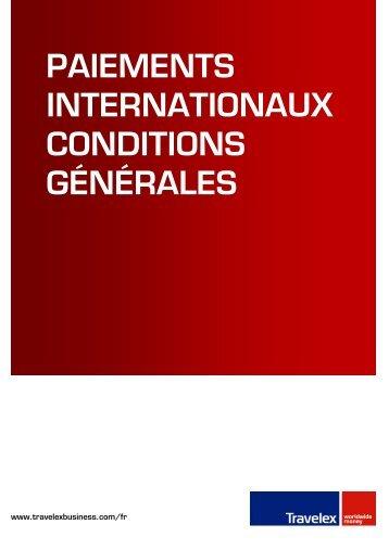 paiements internationaux conditions générales - Travelex